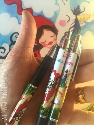 ♥ROLLER-PEN♥ MILLI in LOVE with UNICORN Fairy PEN black INK