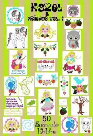 ♥HAZEL&friends vol.1♥CINDERELLA embroidery 13x1
