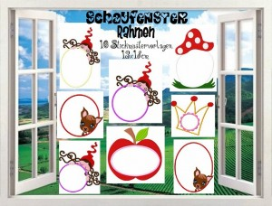 ♥WINDOWS&FRAMES♥embroidery file-set 13x18cm