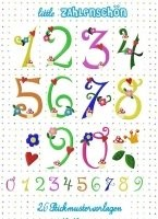 ♥little NUMBERS♥Embroidery FILE-SET 10x10cm