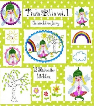 ♥TINKA the birch fairy BELLA♥ embroidery vol. 1 13x18