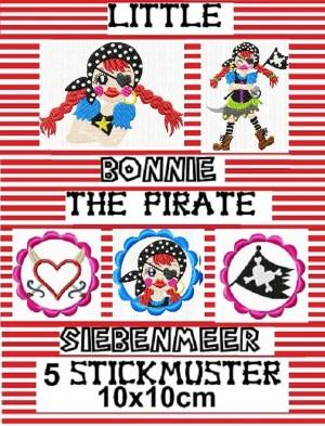 ♥little BONNIE the pirate SIEBENMEER♥ Stickmuster 10x10cm