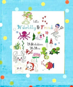♥little WATERLILLY&Friends♥ STICKDATEI 10x10