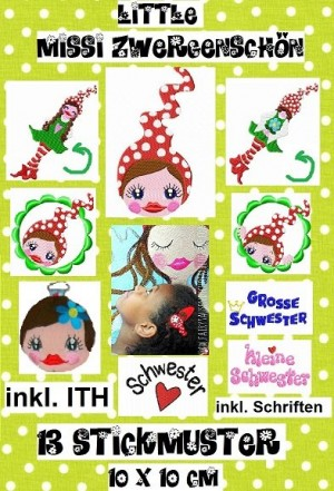 ♥little MISSI Zwergenschoen♥ SPECIAL Embroidery-File 10x10cm