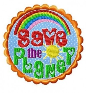 ♥SAVE THE PLANET♥ 1€-ECObie EMBROIDERY