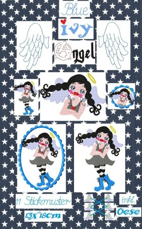 ♥BLUE IVY♥ Gurardian ANGEL Embroidery FILE 13x18cm