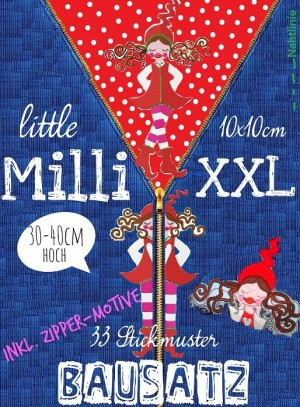 ♥little MILLI XXL Building♥ Embroidery-File SET 10x10cm