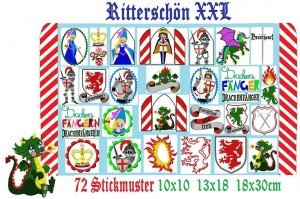 ♥RITTERSCHoeN XXL♥ Knights of AVALONIA Embroidery-FILE Set