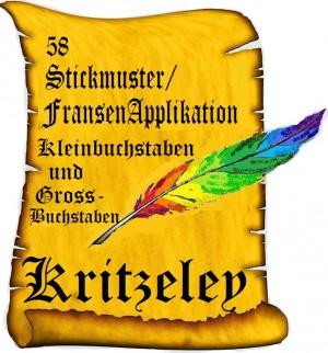 ♥KRITZELEY♥ ritterschönes ALPHABET 10x10cm