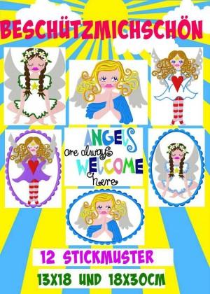 ♥BESCHueTZmichSCHoeN♥ GUARDIAN ANGELs Embroidery-File SET 10x10 13x18 18x30cm