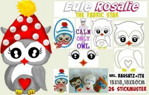 ♥ROSALIE♥ FABRICstar Owl 13x18 18x30cm SPECIAL+ITH