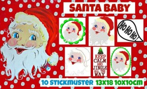 ♥SANTA BABY♥ Embroidery File-Set X-MAS