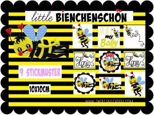 ♥little BieNCHENSCHöN♥ Stickdatei BIENEN 10x10cm