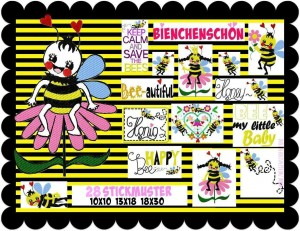 ♥QUEEN of BEES♥ Embroidery-File-Set 13x18 18x30 10x10 BieNCHENSCHoeN