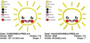 a little bit of ♥SUNSHINE♥ Stickmuster 1€-SPARbie