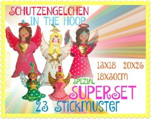 ♥ANGELS♥ ITH Embroidery FILE Set SPECIAL 13x18 20x26 18x30cm IN THE HOOP