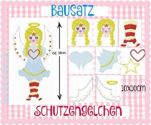 ♥BAUSATZ♥ Schutzengelchen ENGEL Stickmuster 10x10cm