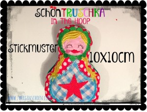 ♥SchönTRUSCHKA solo♥ Stickmuster ITH 10x10cm IN THE HOOP