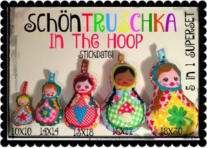 ♥SchönTRUSCHKA 5in1♥ Stickmuster ITH Superset IN THE HOOP