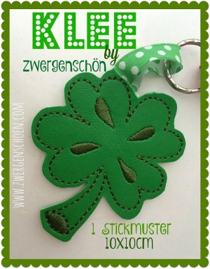 ♥CLOVER♥ Embroidery FILE 10x10cm 1€-SPARbie