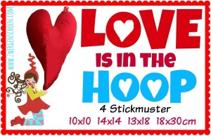 ♥LOVE is in the HOOP♥ Embroidery FiLe-SET 10x10 14x14 13x18 18x30cm ITH