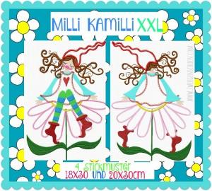 ♥MILLI KAMILLI XXL♥ Stickmuster KAMILLE 18x30 20x30cm