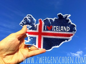 ♥ICELAND♥ Flag EMBROIDERY 1€-SPARbie