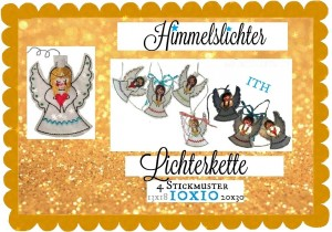 ♥ANGEL LIGHTS♥ Embroidery FILE Angels ITH 10x10