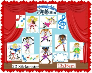 ♥HIMMELSCHoeN BigBand♥ Embroidery FILE-Set ANGELS 13x18cm