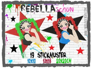 ♥REBELLAschoen♥ Embroiderx FILE SET Revolution GIRL Power