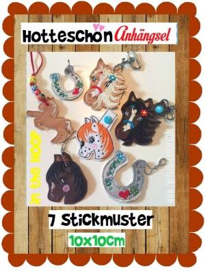 ♥ANHäNGSEL♥ Pony STICKMUSTER Pferd ITH 10x10cm