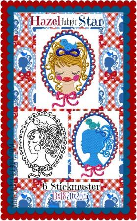 ♥HAZEL&Friends♥ Embroidery-File FABRICstar 13x18 20x26cm