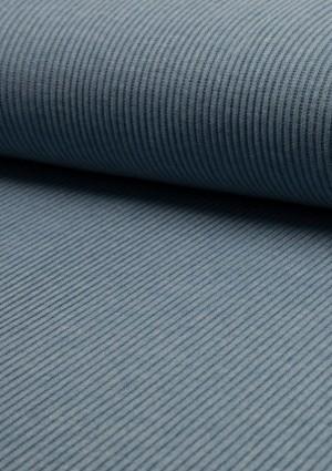 ♥RIPP-Bündchen♥ 0.25m JERSEY Rib DUSTY BLUE