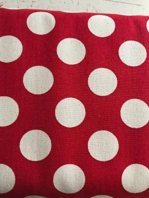 ♥POLKA DOTS♥ 0.5m CANVAS Bezugsstoff PUNKTE Baumwolle