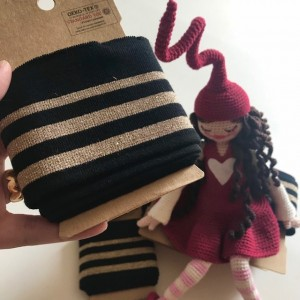 ♥CUFF♥ 1 pack BLACK gold STRIPES