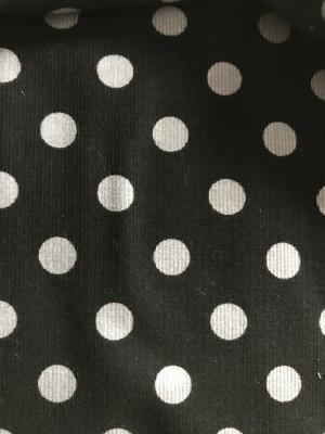 ♥Polka DOTS♥ 0.5m BABY CORDUROY Grey BLACK