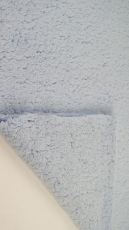 ♥TEDDY♥ 0.5m KUSCHELFELL hellblau 100% Kunstfaser