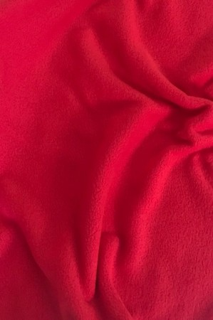 ♥POLAR-FLEECE♥ 0.5m HERZblut ROT