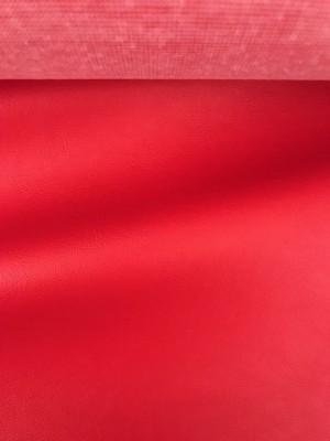 ♥KUNSTLEDER♥ 0.5m ROT glatt VEGAN