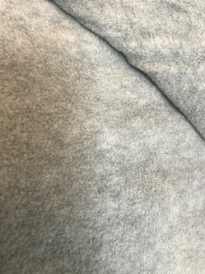 ♥POLAR FLEECE de LUXE♥ 0.5m FLEECE grey MELANGE