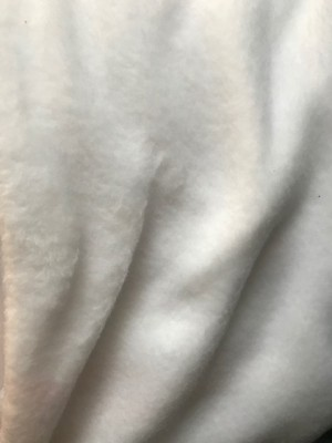 ♥FLEECE♥ 0.5m LAMBSKIN optical WHITE weiss