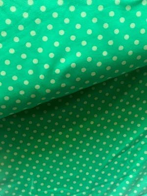 ♥POLKA DOTS♥ 0.5m JERSEY Apple GREEN Lime