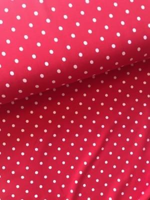 ♥POLKA DOTS♥ 0.5m Jersey Punkte FLIEGENPILZ rot weiss