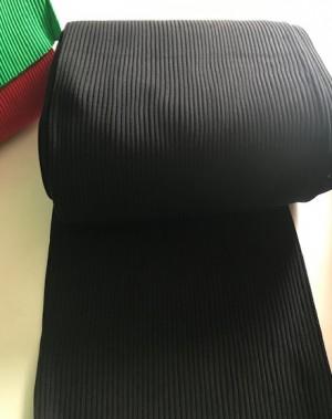 ♥HEAVY RIB♥ 0.25m BÜNDCHEN black SCHWARZ Dicke Rippe SCHLAUCHWARE