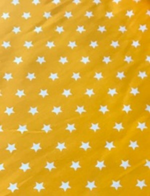 ♥SUPERSTARS♥ 0.5m woven COTTON yellow