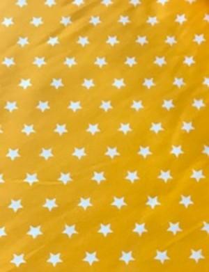 ♥STERNE♥ 0.5m Webware BAUMWOLLE gelb STERNCHEN Stars