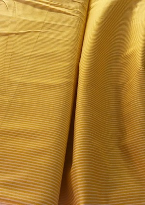 ♥YELLOW STRIPES♥ 0.5m COTTON yellow