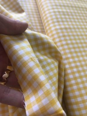 ♥little GINGHAM♥ 0.5m WOVEN COTTON yellow