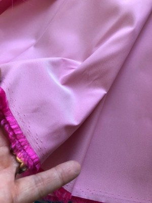 ♥HILCO♥ 0.5m TAFT pink ROSA