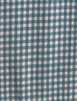 ♥mini VICHY♥ 0.5m Cotton AQUA BLUE check PRICE per 0.5 METER